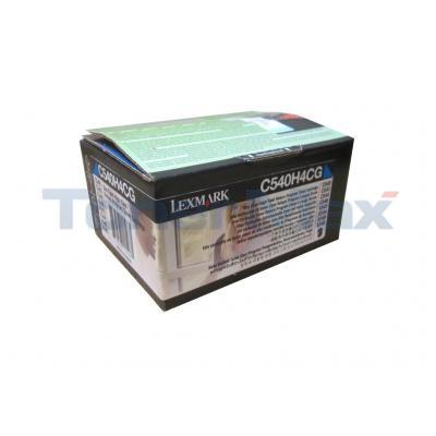 LEXMARK C54X TONER CART CYAN HY RP TAA